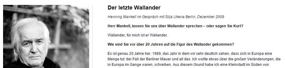Der letzte Wallander war ein wichtiger Moment - ein Interview von 2009 prägt den lieblosen Gesamteindruck erheblich